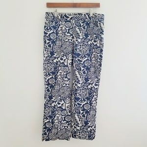 🎃 Old Navy Printed Floral Cropped Pants Size 8